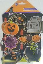 Cookie Cutters, Wilton 7 PC. Metal Halloween Shapes, Baking, New