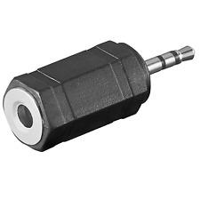 3,5mm Socket 2,5mm Jack Connector Adapter Headset Headphones Hi-Fi System Z29