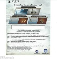 PS3 Assassins Creed IV Collector's Edition Bonus DLC Code - Black Island Pack