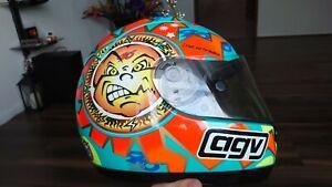 "1999 AGV Valentino Rossi ""Peace and Love"" Helmet"