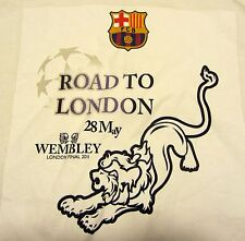 FCB Mens T-shirt, FC Barcelona, UEFA, Road to London, Wembley 2011, White, 4XL
