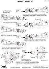 """Berna Decals 1/144 DASSAULT MIRAGE IIIC """"CIGOGNES"""" Jet Fighter"""