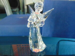 2014 SWAROVSKI ANGEL ORNAMENT HOLDING BIRD # 5047231 CRYSTAL EXCELLENT WITH BOX