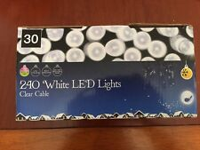 240 WHITE LED LIGHTS (WITH WHITE CABLE) SUITABLE FOR INSIDE OR OUTSIDE