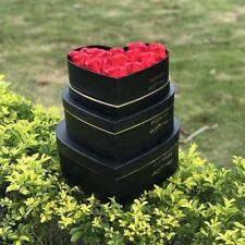3 x Heart Shape Luxury NEW STYLE  Florist Hat Boxes  Valentines Day GIFT