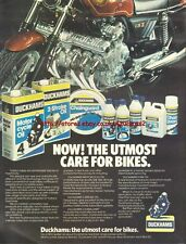 Duckhams Oil Care For Bikes Motorcycle 1979 Mag Advert #1021
