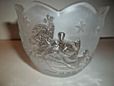 Mikasa Silent Night Frosted Glass Candle / Votive Holder