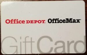 Office Depot Office Max New Unused Gift Card $15