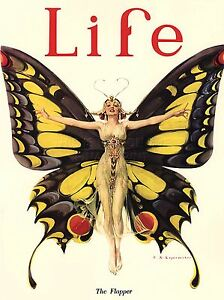 Reprint For MAGAZINE COVER 1922 LIFE BUTTERFLY DANCER HD Print POSTER