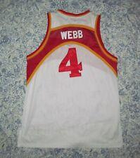 f1ee555d3 Atlanta Hawks 4 Spud WEBB Men s 48 Throwback 86-87 all Sewn basketball  Jersey