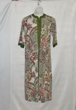 Joan Rivers Regular Length Paisley Print Jersey Lounger Size 1X Olive