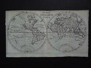 1661 CLUVER atlas WORLD map  ORBIS TERRARUM TYPUS - California & Korea Islands