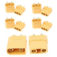 5 Pairs Female Male XT90 Banana Bullet Connector Plug For RC LiPo Battery 4.5mm