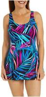 Maxine Of Hollywood Women's Seam Front Swim Dress, Multi//Jungle Party, Size  Ad