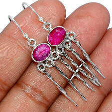 Ruby 925 Sterling Silver Earring Jewelry AE169628 157M