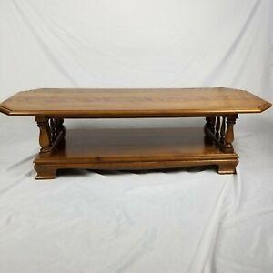"Ethan Allen Heirloom Nutmeg Maple 60"" Accent Coffee Table 10-8620"