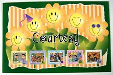 1996 Mnh Singapore Courtesy Stamps Sheet Of 5 Self Adhesive Children'S Drawings