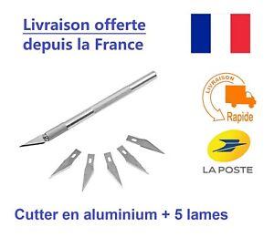 Cutter Scalpel de précision avec 5 lames de rechanges - Art, dessin, DIY etc.