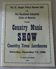 The St. Joseph Police Reserve Unit Country Music Show Playbill-December 1986