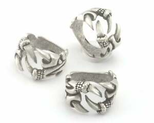 Claw Adjustable Ring Antique Silver Plated Brass (18mm 8US inner size) 4317