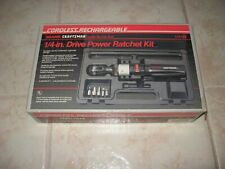 """MINT CONDITION Craftsman 1/4"""" cordless rechargeable ratchet Nut Runner WITH CASE"""