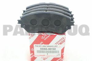 044650D150 Genuine Toyota PAD KIT, DISC BRAKE, FRONT 04465-0D150