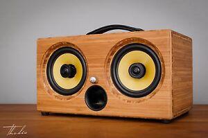 200Watts Wooden Wireless Speakers Portable Thodio iBox XC Caramel Wifi Bluetooth