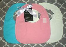 Side Fasten Flannel Bib size S New Design-solid colors