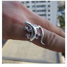 Beautiful tibet silver Gecko Men's Rings