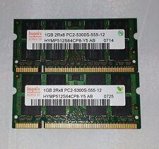 Hynix 2GB 2x1GB DDR2 PC2-5300S 2Rx8 or 2Rx16 LAPTOP MEMORY RAM