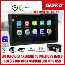 AUTORADIO ANDROID 10 POLLICI STEREO AUTO 2 DIN WIFI NAVIGATORE GPS USB BLUETOOH