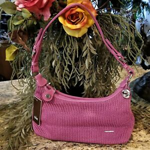 New THE SAK Modern Classics Crochet Hobo Shoulder Purse Orchid Pink