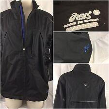 Asics Running Jacket Small Men Blue Nylon Poly Full Zip EUC YGI 58J