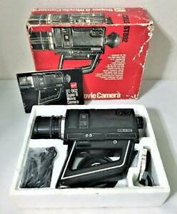 VINTAGE 1972 gaf ST/802 SUPER 8 MOVIE CAMERA WITH INSTRUCTIONS ORIGINAL BOX