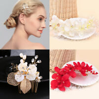 Flower Crystal Pearl Hair Clip Bridal Hair Comb Hair Accessory Wedding Jewelry