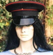 56 cm PEAK CAP/HAT BRITISH ARMY Royal Engineers rock festivals Fancy Dress Black