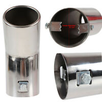 Car Curve Stainless Steel Chrome Exhaust Muffler Tip Pipe 6.1CM Diameter, Sliver