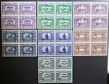 Iceland 1930 MNH** Millenary of Parliament short set in blocks of four - High CV