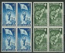 NEW ZEALAND 1953 '' HEALTH , SCOUTS '' 4 SETS  (BLOCK) MNH (ΘΞΔ  052)