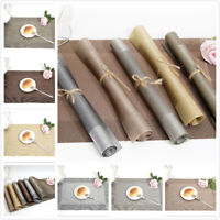 PVC Heat Insulation Dining Table Placemats Kitchen Table Washable Non-slip Mats