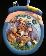 RARE Disney LE Winnie the Pooh Piglet Bath Ceramic Porcelain Christmas Ornament