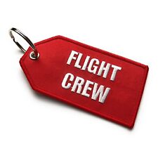 Flight Crew / Do Not Remove From Aircraft Luggage Tag | Medium | Red / White