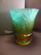 "DAUM  VASE MONKEY   6 ""     #  3884    SIGNED AND NUMBERED   NIB"