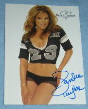 Sandra Taylor Signed 2003 BenchWarmer Card #3 Playboy Magazine Model Autograph