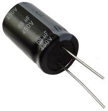 2x Condensateur électrolytique chimique 68µF 450V THT 10000h Ø18x31.5mm radial