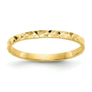 14k Yellow Gold Design Wedding Ring Band Childs Baby Fine Jewelry Women Gifts