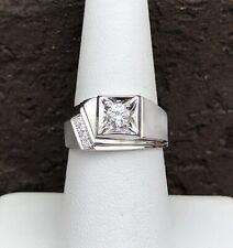 10K WHITE GOLD MENS DIAMOND RING SIZE 7