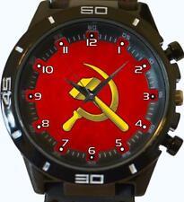 Soviet Flag Hammer Sickle Communism USSR CCCP Gift Wrist Watch Fast UK Seller