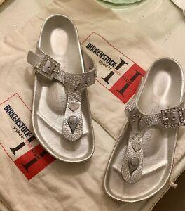 Birkenstock Heidi Klum Rhinestone Silver Size 38