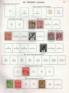 St. Vincent 1899/1902 collection of 9 mounted on a New Ideal page #285.